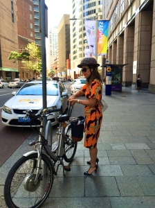 veloaporter cycling in heels cycling in a dress cycling in a skirt cycling with style