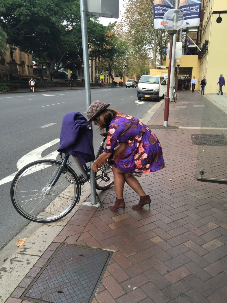 veloaporter women on bicycles cycling in heels cycling in a skirt cycling with style
