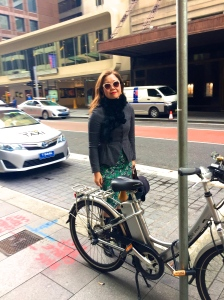 velaporter cycling with style cycling in a dress cycling in heels cycling in skirt