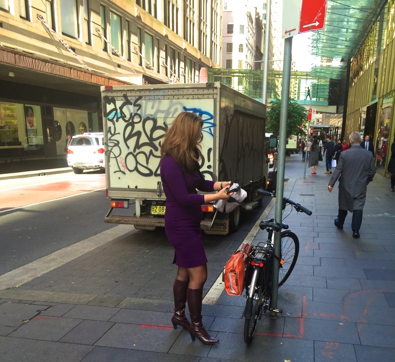 veloaporter bicycling in a dress bicycling in heels women bicycling woman on a bicycle stylish bicycling