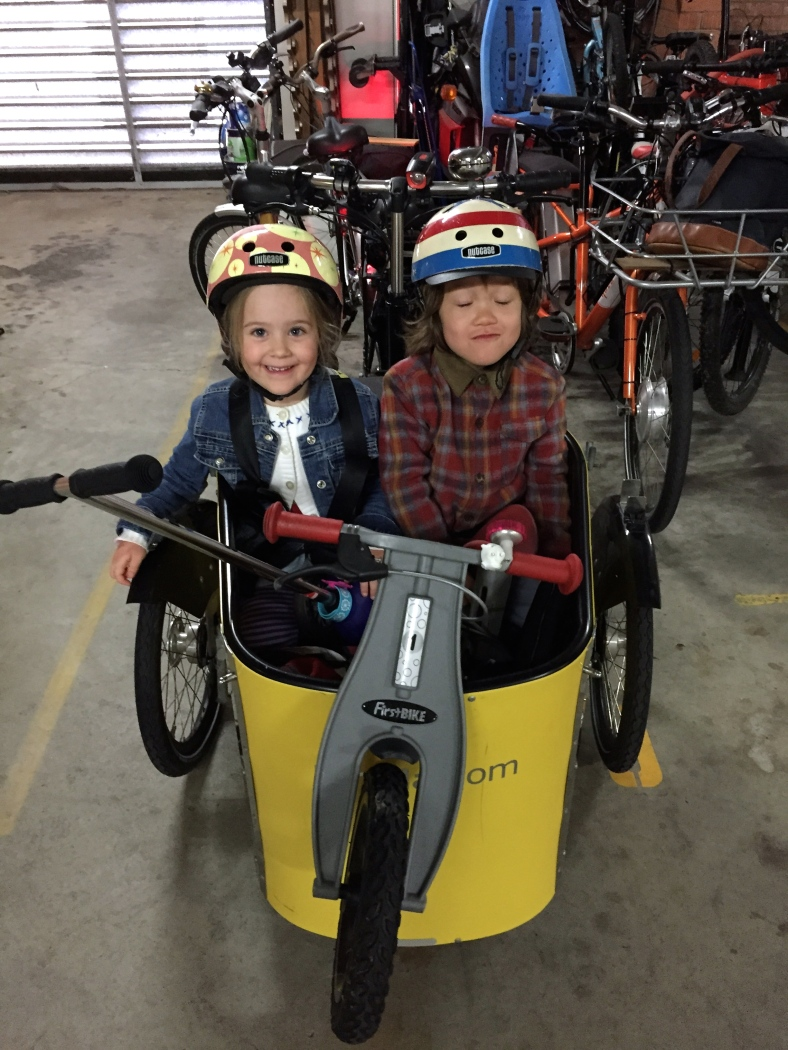 veloaporter cycling with kids cycling in cold weather