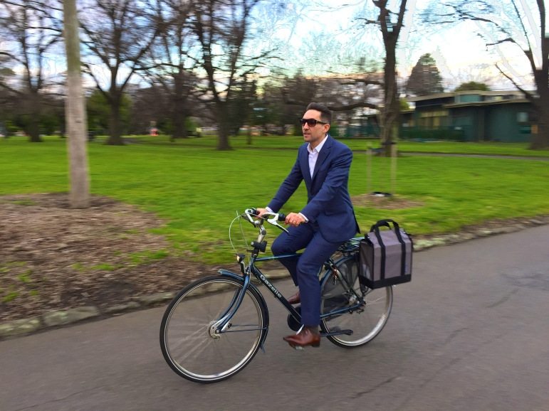 veloaporter cycling with style cycling in a suit stylish cycling