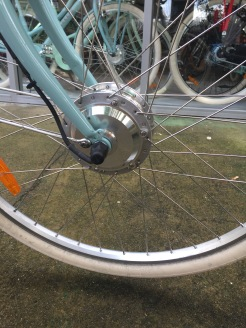 Front hub motor is effective for getting up Sydney's hilly landscape.