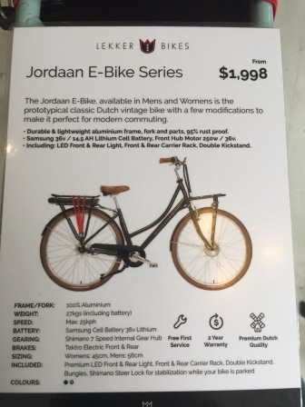 Very reasonably priced for a great quality e-bike!