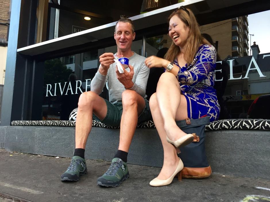 veloaporter Kristof Allegaert ice cream finish