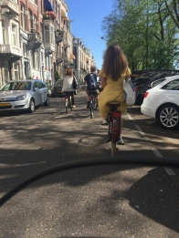 Bicycling in Amsterdam