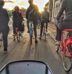 Waiting at the light in Copenhagen.